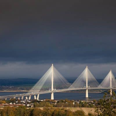 Stormy sky over the Queensferry Crossing